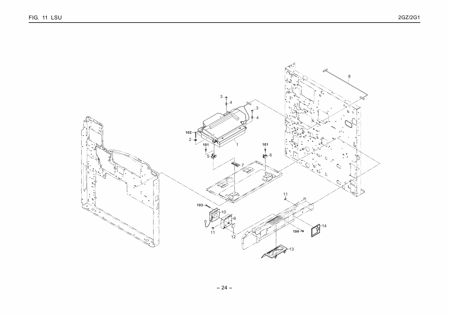 KYOCERA LaserPrinter FS-9130DN 9530DN Parts Manual